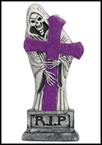 2 foot purple glitterlight up gravestone by Halloween Costumes Link Share