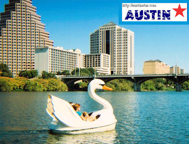 Lady Bird Lake Swan Boat by L.A. Cargill