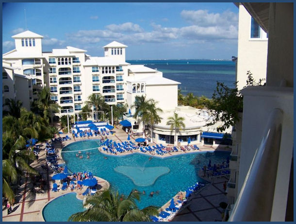 Cancun Barcelo Hotel in the Caribbean by L.A. Cargill