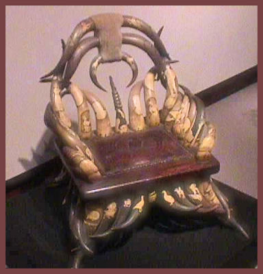Chair made of horns by L.A. Cargill