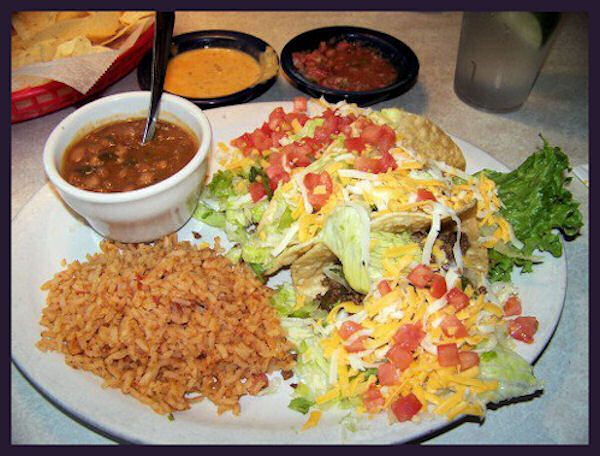 Chuy's Taco plate by L.A. Cargill