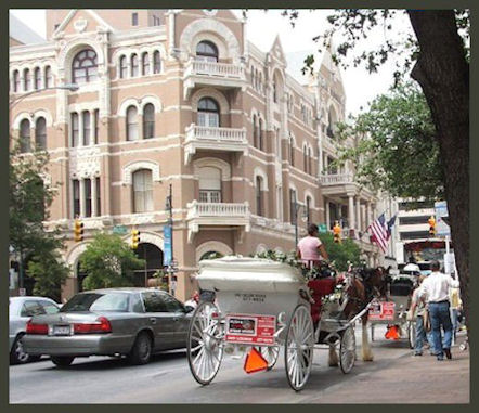 Driskill Hotel Carriage Ride by L.A. Cargill
