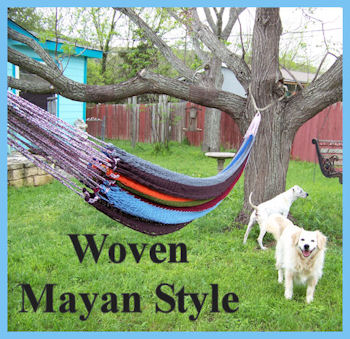 Mayan style woven hammock by L.A. Cargill