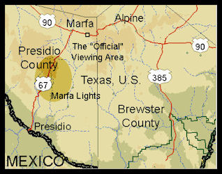 Marfa Texas map