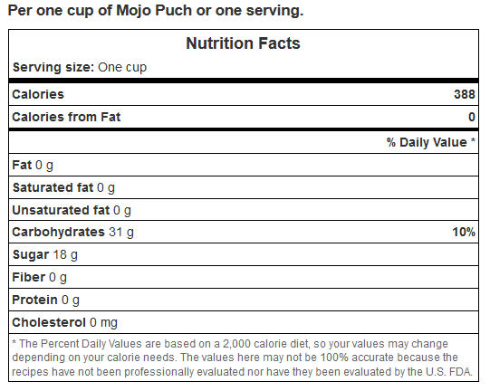 calorie count for Philippine Mojo Punch by L.A. Cargill