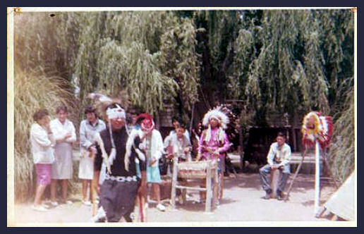 Old pow wow photo from the estate of M. F. DeChaume Payne