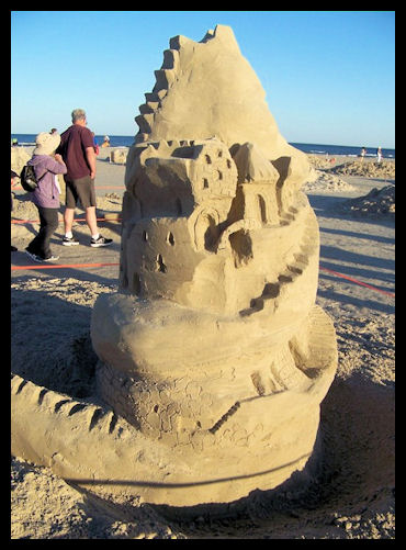 A Spiral Sand Castle by L.A. Cargill