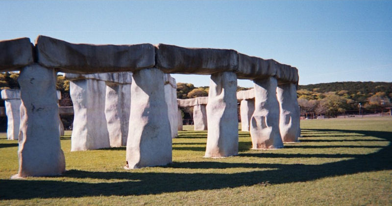 Texas Stonehenge 2 by L.A. Cargill
